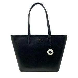 Kate Spade Tanya Leather Large Tote Bag Black